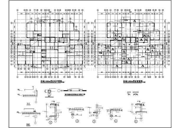 某框剪办公楼结构设计图-图2