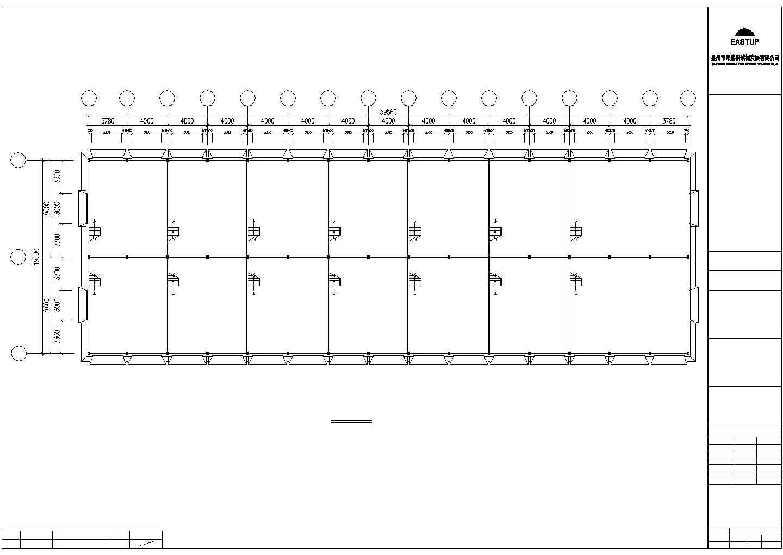 某地建筑钢结构工程CAD图图片2