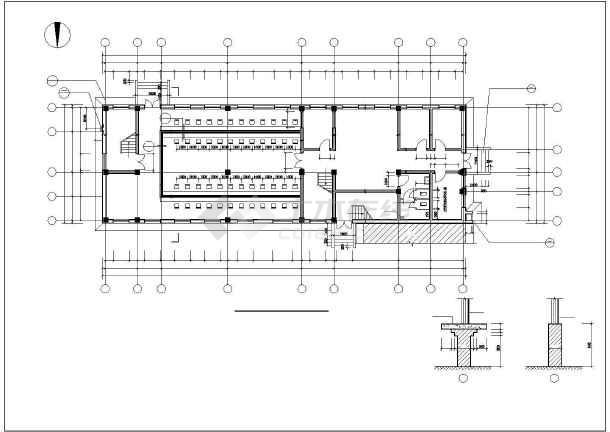 某监狱综合办公楼框架结构建筑施工图-图二