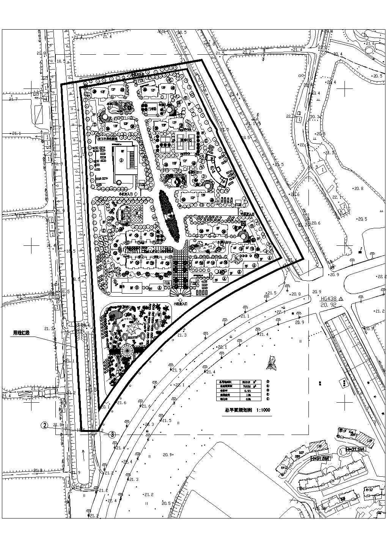 某地小型居住社区规划及景观绿化CAD设计施工图图片1