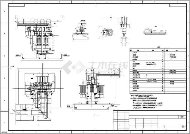 高压变压器电气cad设计方案图-图二