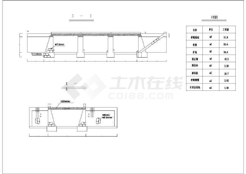 园林设计常用景观桥图纸-图2