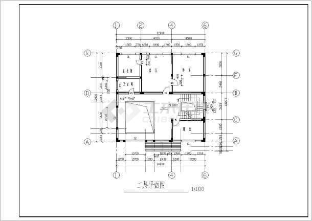 某地3层农村房屋建筑设计cad方案图-图一
