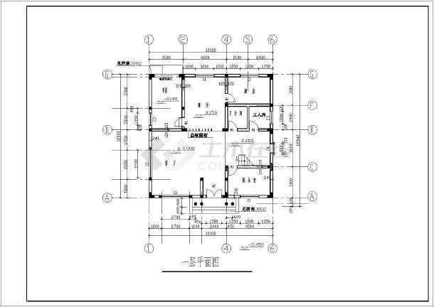 某地3层农村房屋建筑设计cad方案图-图二