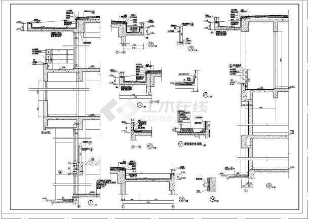 建筑节点详图及墙身剖面图-图1