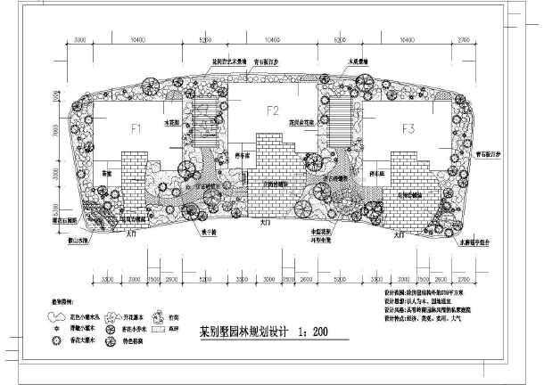 某别墅园林规划设计总图-图一