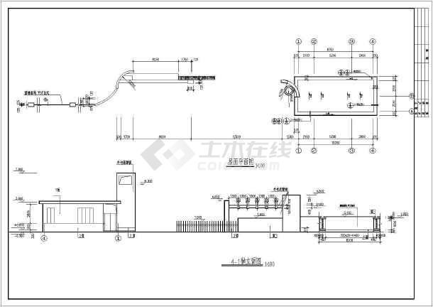 某小区大门建筑设计cad详细方案图-图1