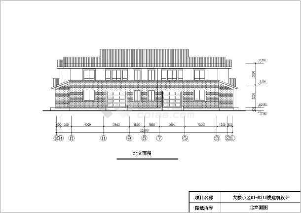 某地生态型居住区二层双拼别墅建筑设计方案图-图2
