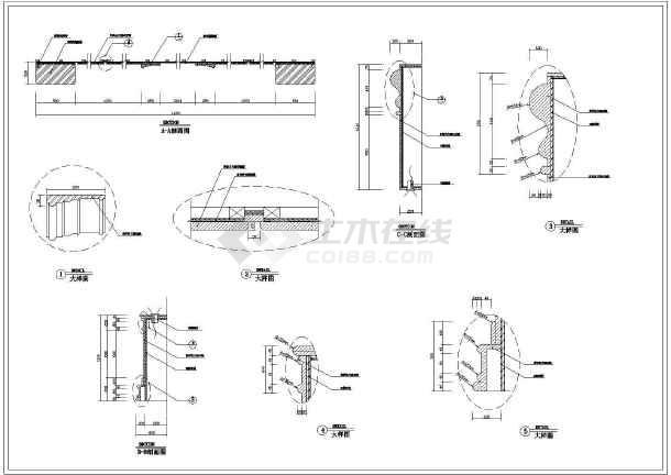 点击查看某地豪华别墅建筑装修设计图(全套)第2张大图
