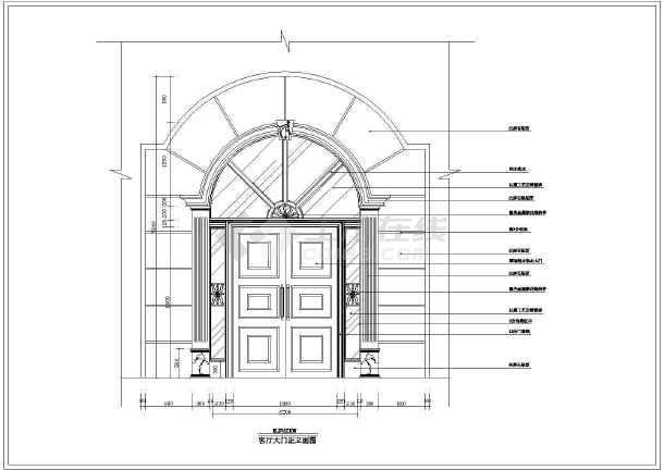 某地豪华别墅建筑装修设计图(全套)-图2