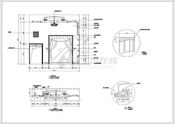 某地豪华别墅建筑装修设计图(全套)-图3