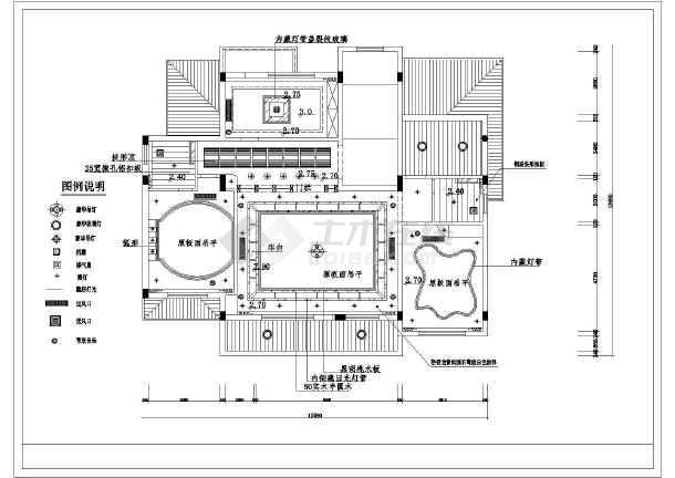 某套漂亮豪华别墅精装修建筑cad图-图二