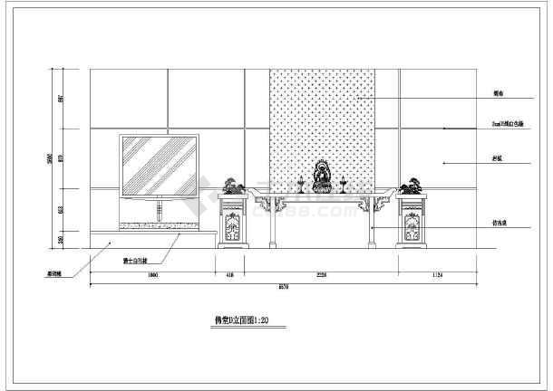 某套漂亮豪华别墅精装修建筑cad图-图2