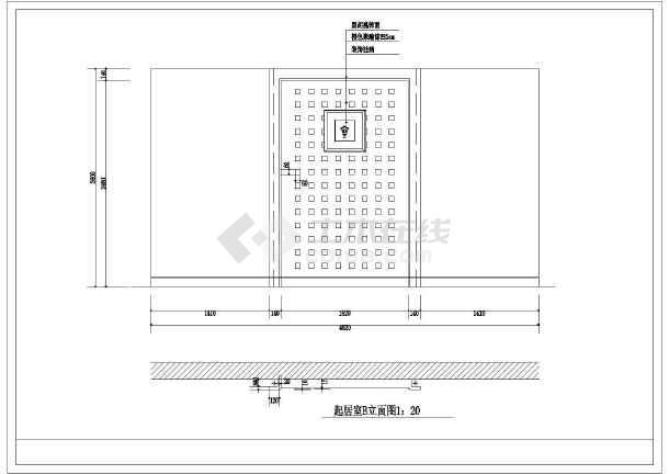 某套漂亮豪华别墅精装修建筑cad图-图3