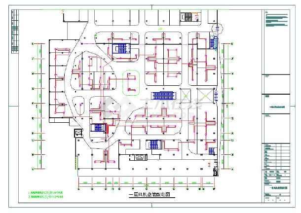 强弱电、空调电、应急照明、疏散指示电气平面图纸-图1