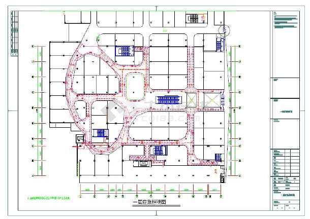 强弱电、空调电、应急照明、疏散指示电气平面图纸-图2