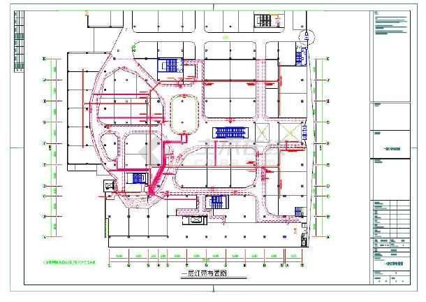 强弱电、空调电、应急照明、疏散指示电气平面图纸-图3