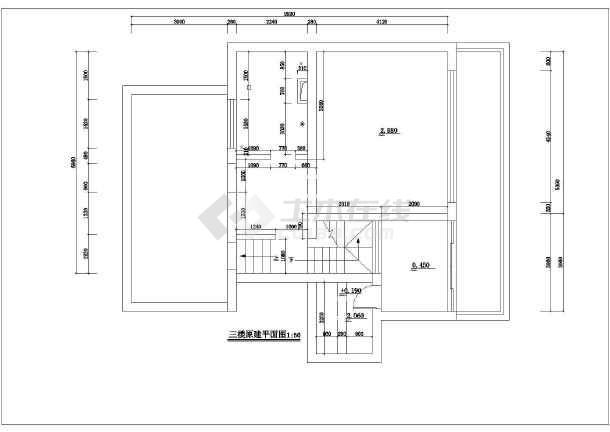 全套别墅装修建筑施工cad图(含设计说明)-图1