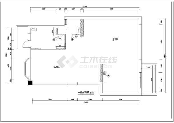 全套别墅装修建筑施工cad图(含设计说明)-图3