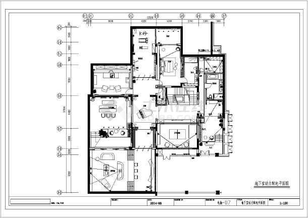 [天津]二层别墅建筑装修电气施工图纸-图一