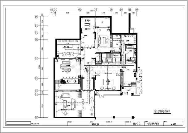 [天津]二层别墅建筑装修电气施工图纸-图1