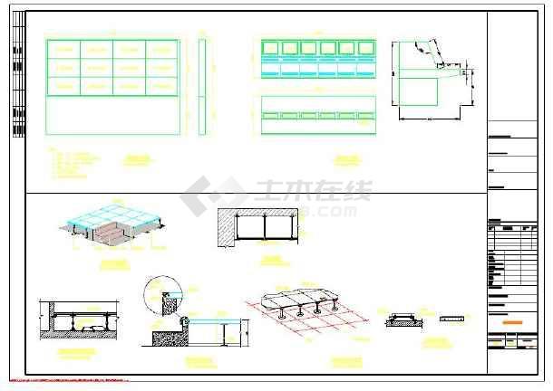 广州市增城区某花园机房安装大样图-图1