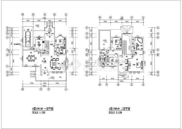 比较齐全的别墅装修竣工建筑图(含图纸目录)-图一