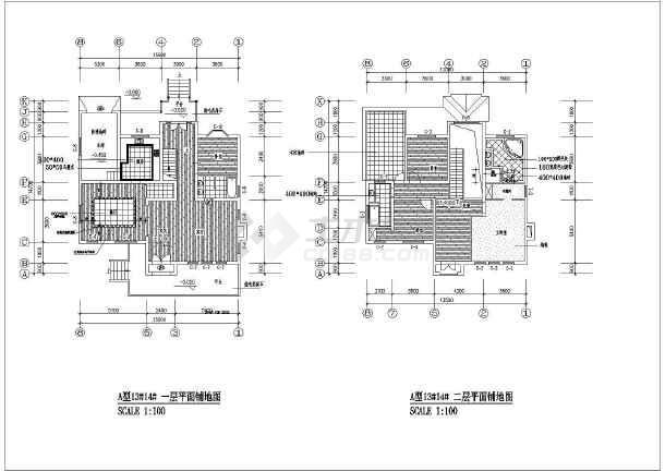 比较齐全的别墅装修竣工建筑图(含图纸目录)-图二