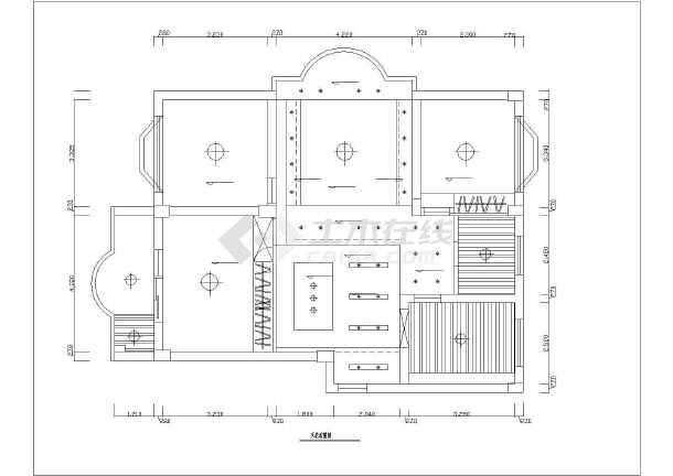 一套精美的别墅装修方案建筑图纸-图一