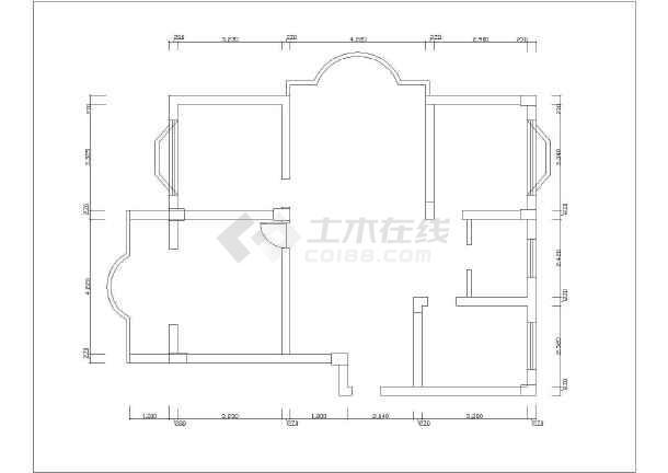 一套精美的别墅装修方案建筑图纸-图二