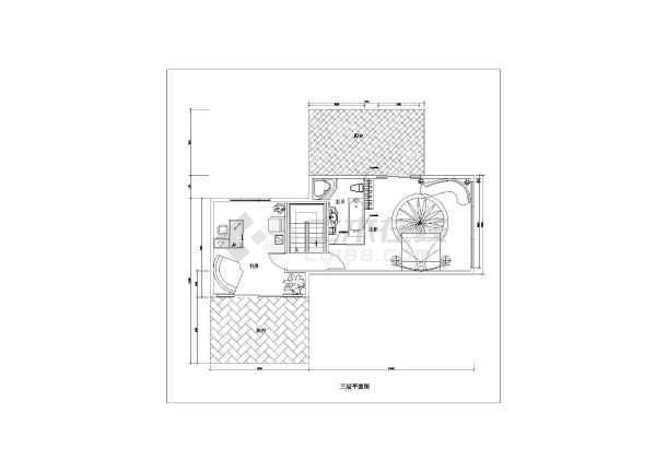 一套简单小型别墅装修方案建筑cad图(含设计说明)-图3