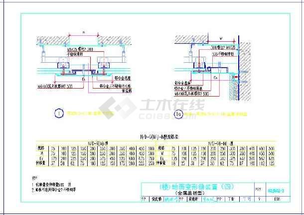 非常详细的楼屋面盖板形变形缝规范图-图3