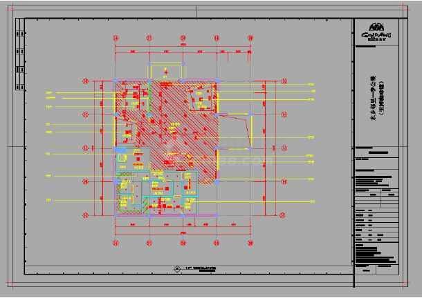 某咖啡馆装修设计cad施工图含效果图-图3