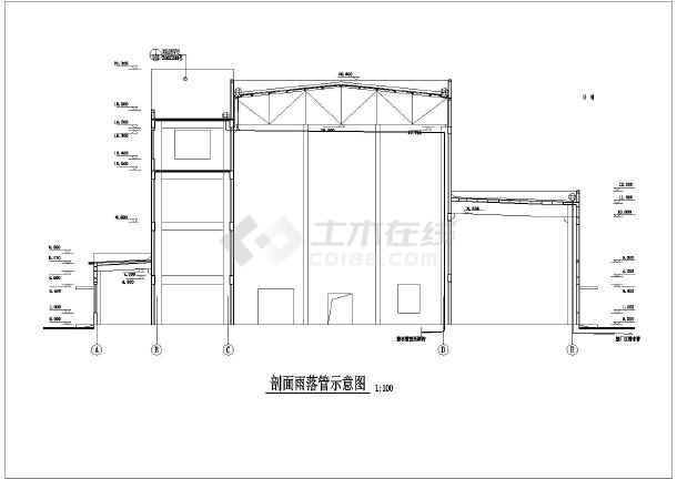 某地集中供热站建筑设计总图(共13张)-图3