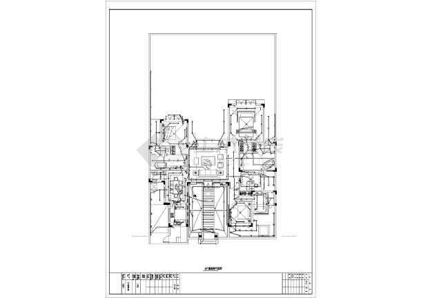 大型别墅建筑工程三种户型电气施工图纸-图1