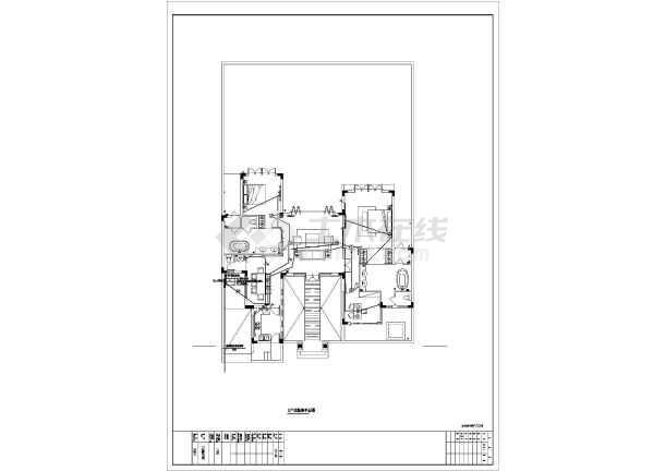 大型别墅建筑工程三种户型电气施工图纸-图3