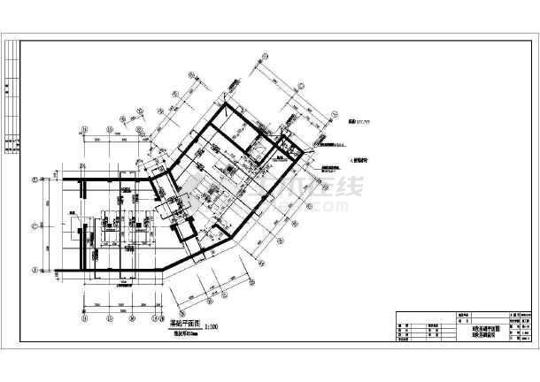 某小区框剪型小高层建筑工程施工设计图纸-图1