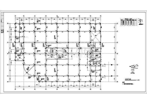 某地区商厦框架结构建筑图-图一