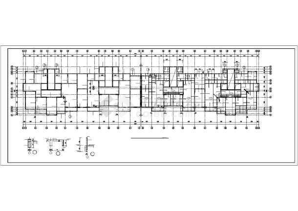 某钢筋混凝土短肢剪力墙结构设计图-图1