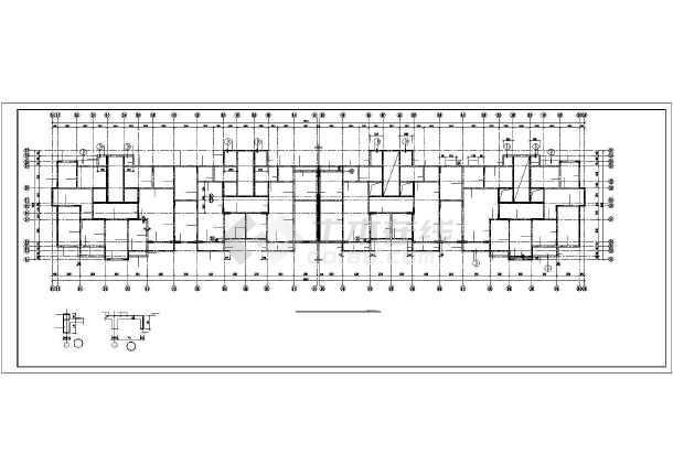某钢筋混凝土短肢剪力墙结构设计图-图2