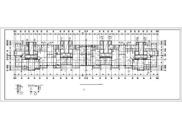 某钢筋混凝土短肢剪力墙结构设计图-图3