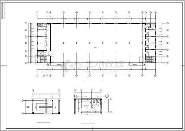 某框架混凝土厂房结构设计图-图2