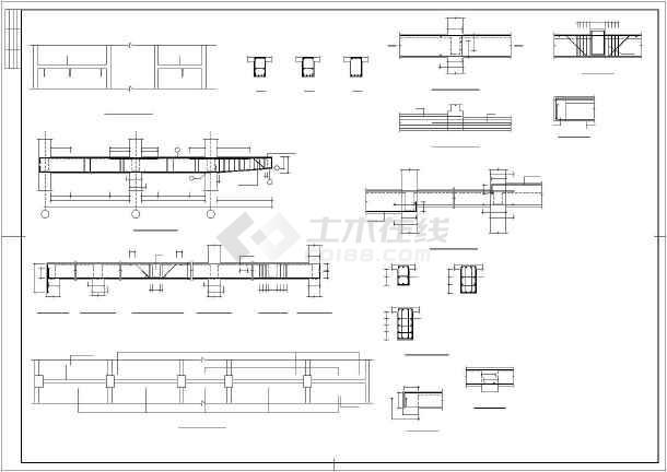 某框架混凝土厂房结构设计图-图3