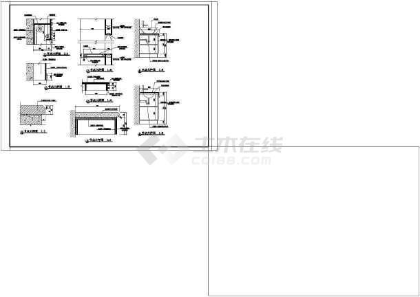 点击查看一层四室别墅室内装修cad施工图第2张大图