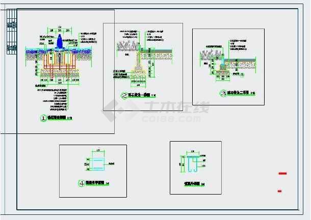 土人标准cad通用大样图-图3