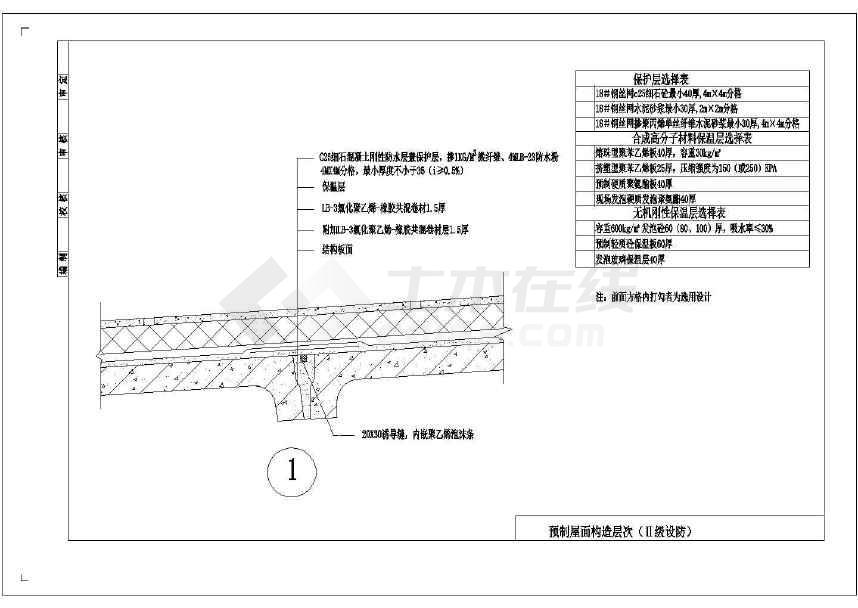 预制屋面防水结构cad大样图集(含9张图)-图1