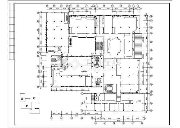 石家庄市图书馆暖通空调设计CAD施工图-图1