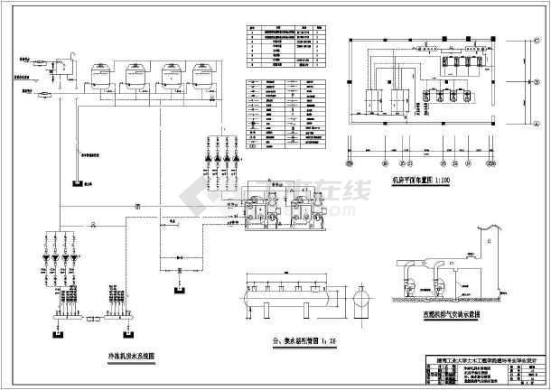 一整套住宅小区暖通空调cad设计施工图纸-图一