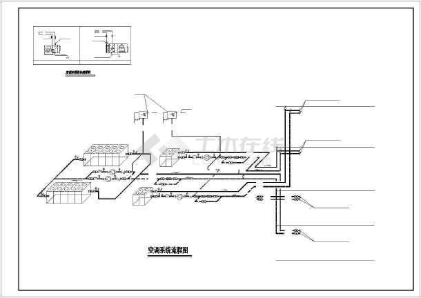 某市房管所办公楼暖通空调全套设计cad施工图-图1