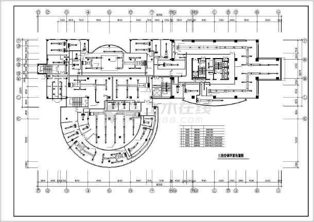 某市房管所办公楼暖通空调全套设计cad施工图-图2